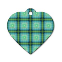 Background Pattern Structure Dog Tag Heart (two Sides)