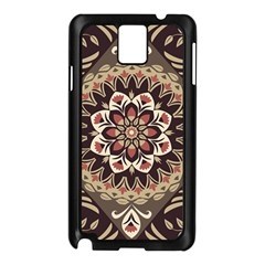 Seamless Pattern Floral Flower Samsung Galaxy Note 3 N9005 Case (black) by Pakrebo
