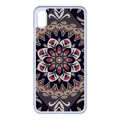 Seamless Pattern Floral Flower Apple Iphone Xs Max Seamless Case (white)