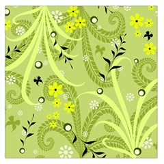 Seamless Pattern Green Garden Large Satin Scarf (square)