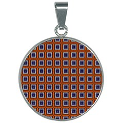 Tile Background Image Pattern 30mm Round Necklace by Pakrebo