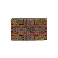 Abstract Design Abstract Art Orange Cosmetic Bag (small) by Pakrebo