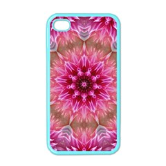 Flower Mandala Art Pink Abstract Apple Iphone 4 Case (color) by Pakrebo