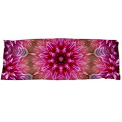 Flower Mandala Art Pink Abstract Body Pillow Case (dakimakura) by Pakrebo