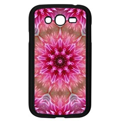 Flower Mandala Art Pink Abstract Samsung Galaxy Grand Duos I9082 Case (black)