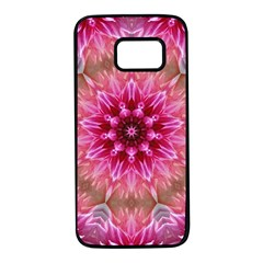 Flower Mandala Art Pink Abstract Samsung Galaxy S7 Black Seamless Case