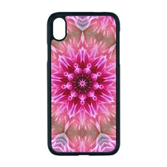 Flower Mandala Art Pink Abstract Apple Iphone Xr Seamless Case (black)