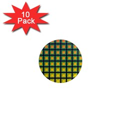 Tile Background Image Pattern Squares 1  Mini Magnet (10 Pack)