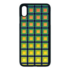 Tile Background Image Pattern Squares Apple Iphone Xs Max Seamless Case (black) by Pakrebo