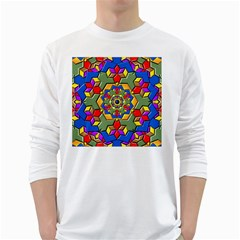 Background Image Pattern Long Sleeve T-shirt by Pakrebo