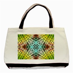 Farbenpracht Kaleidoscope Basic Tote Bag (two Sides)