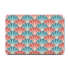 Seamless Patter Peacock Feathers Small Doormat