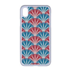 Seamless Patter Peacock Feathers Apple Iphone Xr Seamless Case (white)
