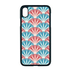 Seamless Patter Peacock Feathers Apple Iphone Xr Seamless Case (black)