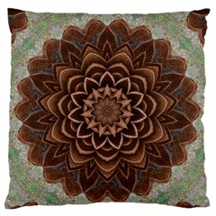 Abstract Art Texture Mandala Large Flano Cushion Case (two Sides)