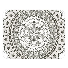 Vector Mandala Drawing Decoration Double Sided Flano Blanket (large)