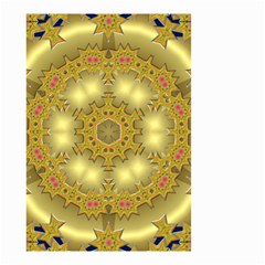 Pattern Background Gold Golden Small Garden Flag (two Sides)