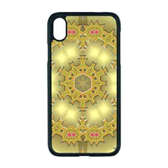 Pattern Background Gold Golden Apple Iphone Xr Seamless Case (black)