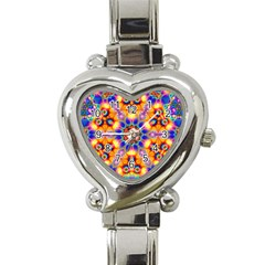 Image Fractal Background Image Heart Italian Charm Watch by Pakrebo