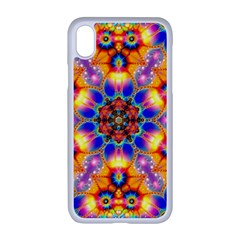 Image Fractal Background Image Apple Iphone Xr Seamless Case (white)