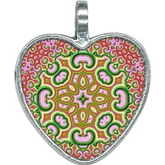 Fractal Art Pictures Digital Art Heart Necklace