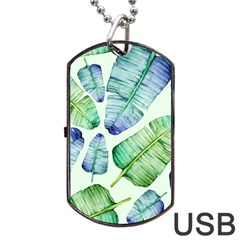 Fancy Tropical Pattern Dog Tag Usb Flash (two Sides) by tarastyle