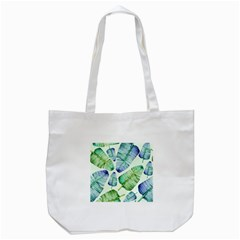 Fancy Tropical Pattern Tote Bag (white) by tarastyle