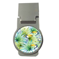 Fancy Tropical Pattern Money Clips (round)  by tarastyle