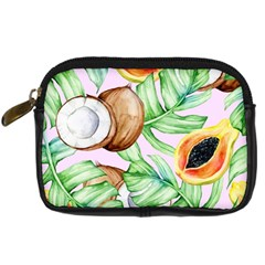 Fancy Tropical Pattern Digital Camera Leather Case