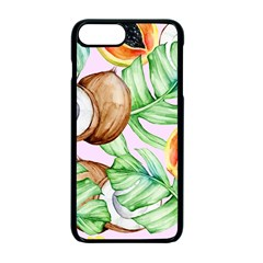 Fancy Tropical Pattern Apple Iphone 7 Plus Seamless Case (black) by tarastyle