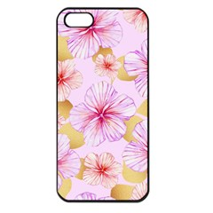 Fancy Tropical Pattern Apple Iphone 5 Seamless Case (black) by tarastyle