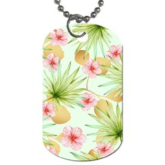 Fancy Tropical Pattern Dog Tag (two Sides) by tarastyle
