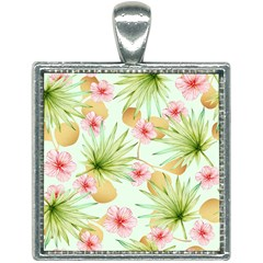 Fancy Tropical Pattern Square Necklace by tarastyle