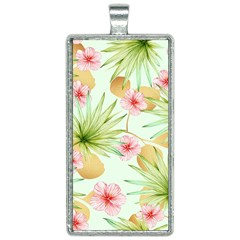 Fancy Tropical Pattern Rectangle Necklace by tarastyle