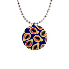 Fancy Tropical Pattern 1  Button Necklace by tarastyle