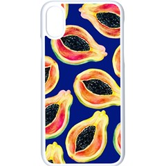 Fancy Tropical Pattern Apple Iphone X Seamless Case (white) by tarastyle