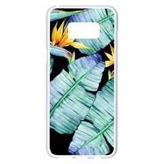 Fancy Tropical Pattern Samsung Galaxy S8 Plus White Seamless Case by tarastyle