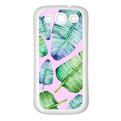 Fancy Tropical Pattern Samsung Galaxy S3 Back Case (white) by tarastyle