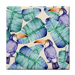 Fancy Tropical Pattern Tile Coasters by tarastyle