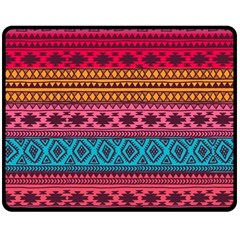 Fancy Colorful Mexico Inspired Pattern Fleece Blanket (medium)  by tarastyle