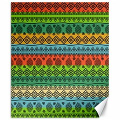 Fancy Colorful Mexico Inspired Pattern Canvas 20  X 24  by tarastyle