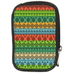 Fancy Colorful Mexico Inspired Pattern Compact Camera Leather Case by tarastyle