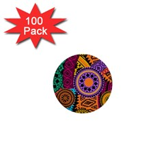 Fancy Colorful Mexico Inspired Pattern 1  Mini Buttons (100 Pack)  by tarastyle