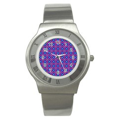 Background Image Decorative Art Stainless Steel Watch