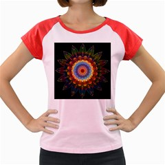 Colorful Prismatic Chromatic Women s Cap Sleeve T-shirt by Pakrebo