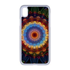 Colorful Prismatic Chromatic Apple Iphone Xr Seamless Case (white)
