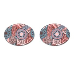 Fancy Colorful Mexico Inspired Pattern Cufflinks (oval) by tarastyle