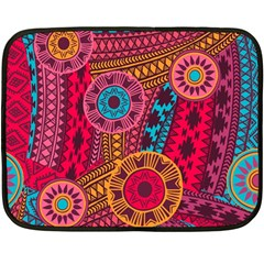 Fancy Colorful Mexico Inspired Pattern Double Sided Fleece Blanket (mini)  by tarastyle