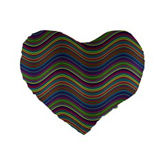 Decorative Ornamental Abstract Standard 16  Premium Heart Shape Cushions