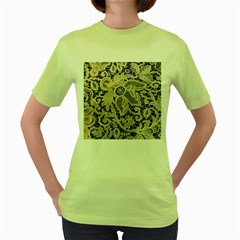 Point De Rose Women s Green T Shirt
